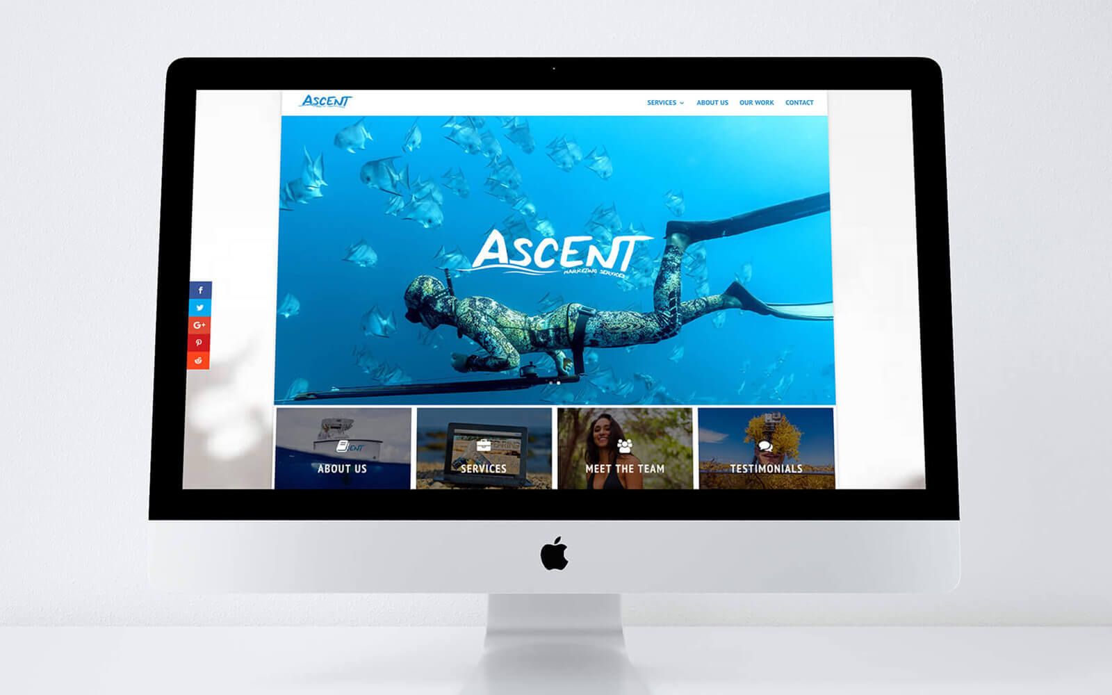Ascent Marketing Services mockup